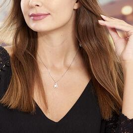 Collier Cyrana Argent Blanc Perle De Culture Et Oxyde De Zirconium - Colliers fantaisie Femme | Histoire d'Or