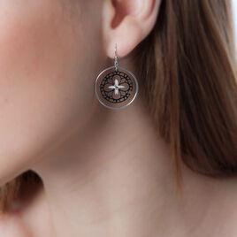 Boucles D'oreilles Puces Trefle Or Blanc - Boucles d'Oreilles Trèfle Femme | Histoire d'Or
