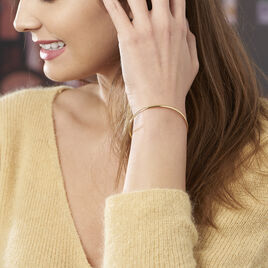 Bracelet Jonc Cynthia Fil Flexible Or Jaune - Bijoux Femme | Histoire d'Or