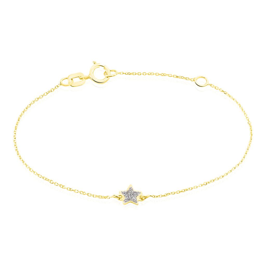 Bracelet Chirine Etoile Or Jaune - Bracelets Naissance Enfant   Histoire d'Or