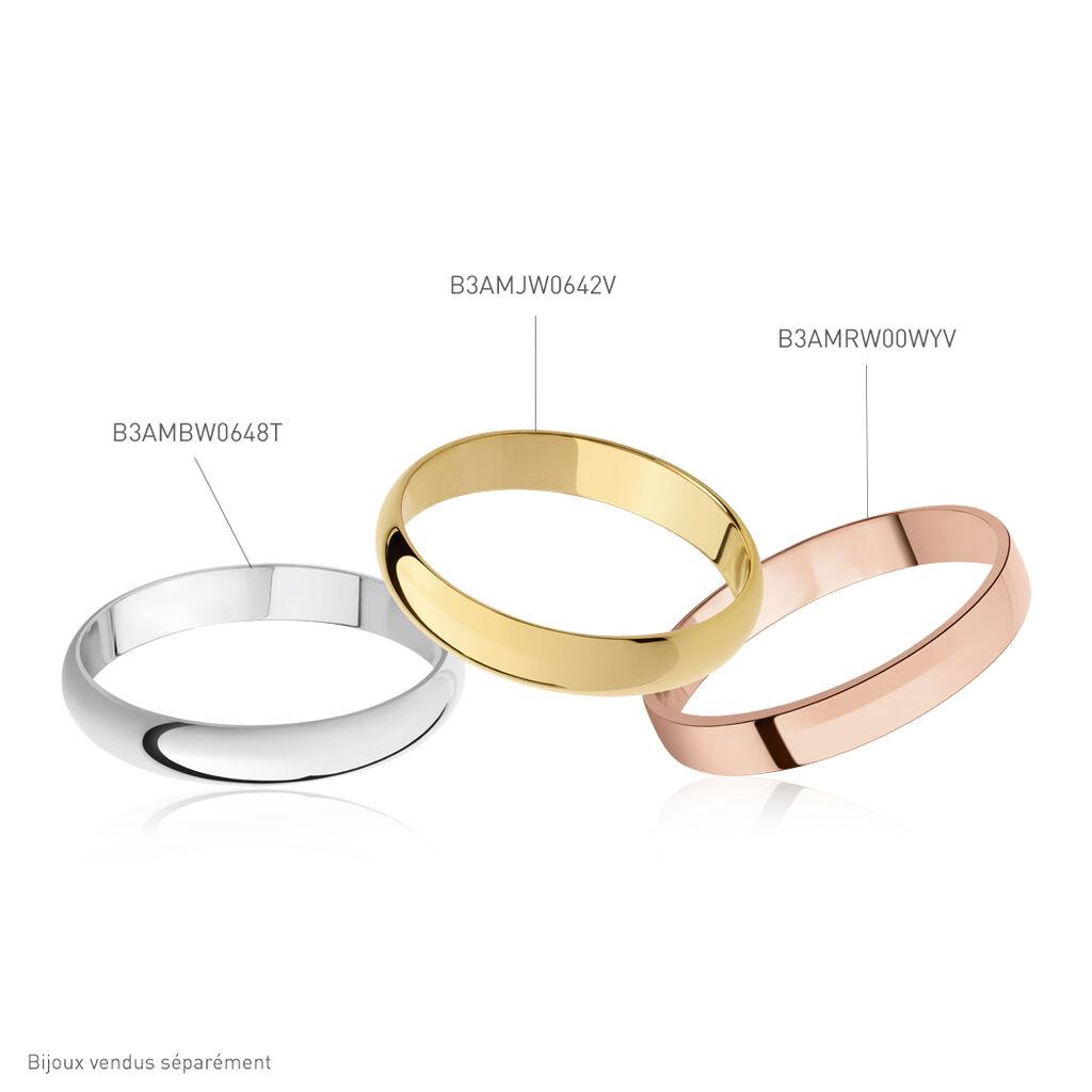 Alliance Aphrodite Demi Jonc Bombe Or Blanc - Alliances Famille   Histoire d'Or