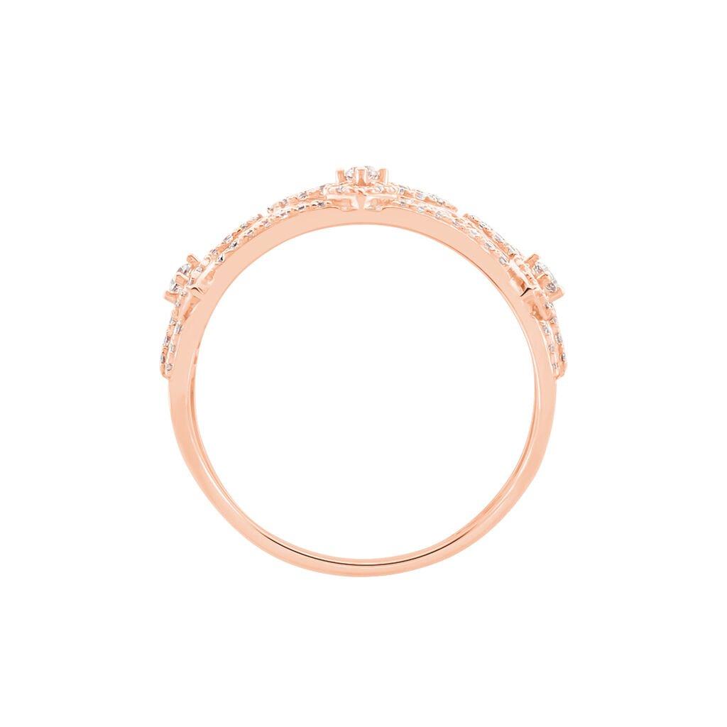 Bague Aliette Or Rose Oxyde De Zirconium - Bagues avec pierre Femme | Histoire d'Or