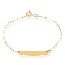 Bracelet Identité Gaspardine Maille Forçat Or Jaune - Bracelets Communion Enfant | Histoire d'Or