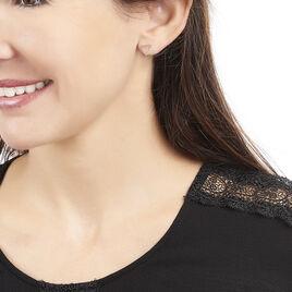 Boucles D'oreilles Puces Juliete Or Jaune Calcedoine - Clous d'oreilles Femme | Histoire d'Or