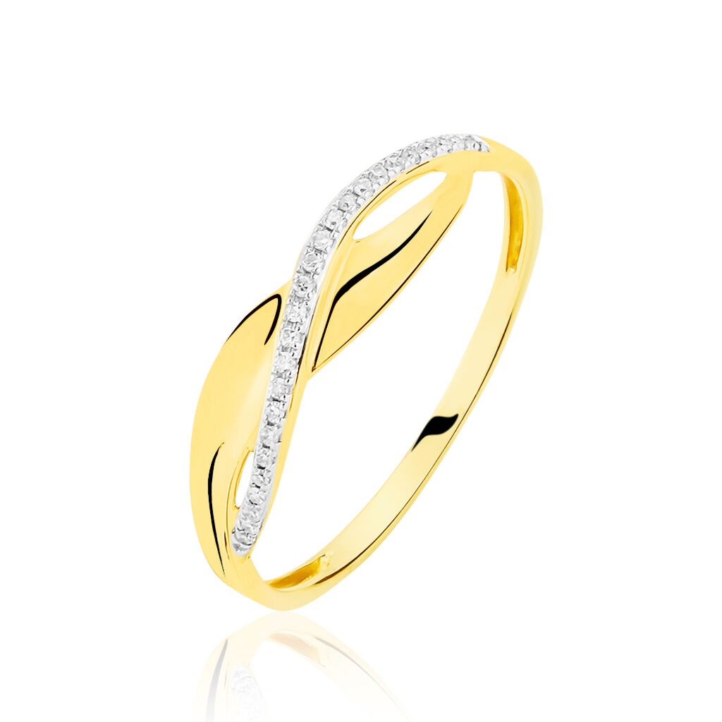 Bague Camelia Or Jaune Diamant