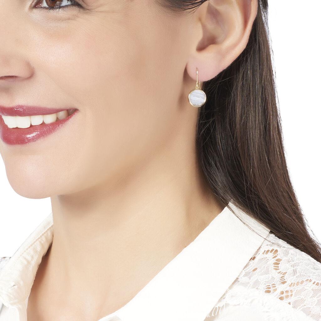 Boucles D'oreilles Puces Cemre Or Jaune Agate - Clous d'oreilles Femme | Histoire d'Or