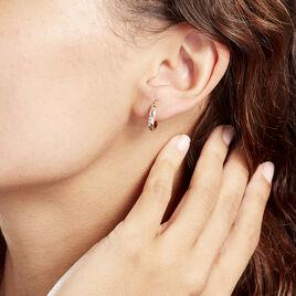 Creoles Or Bicolore Abella - Boucles d'oreilles créoles Femme | Histoire d'Or