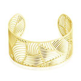 Bracelet Jonc Andor Acier Dore - Bracelets Plume Femme   Histoire d'Or