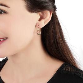 Boucles D'oreilles Pendantes Berangere Triple Cercles Or Tricolore - Boucles d'oreilles pendantes Femme   Histoire d'Or