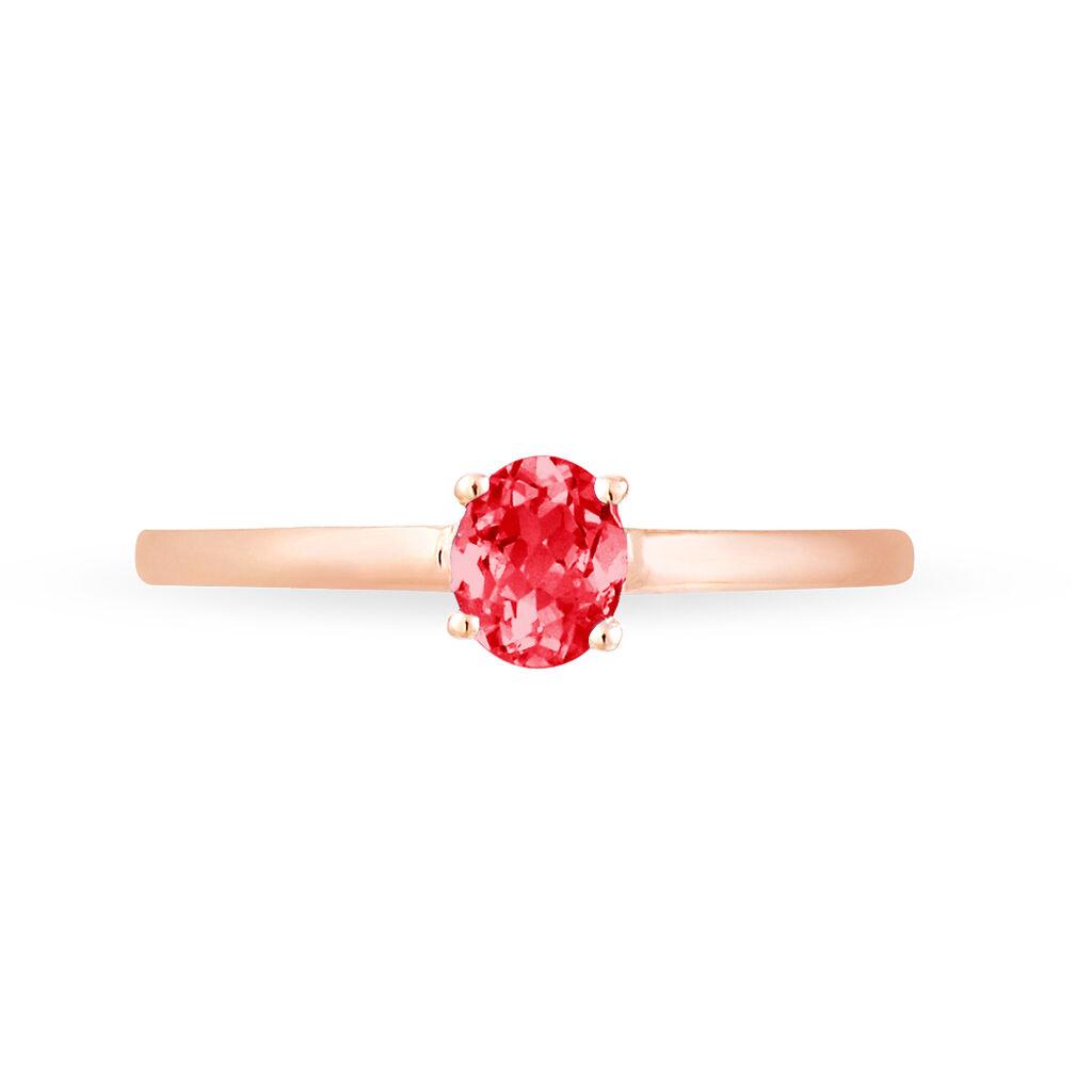 Bague Lily Or Rose Rubis - Bagues avec pierre Femme | Histoire d'Or