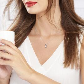 Collier Jade Argent Blanc Oxyde De Zirconium - Colliers Plume Femme | Histoire d'Or