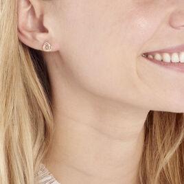 Boucles D'oreilles Puces Syrena Or Jaune Diamant - Boucles d'oreilles pendantes Femme | Histoire d'Or