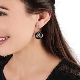 Boucles D'oreilles Pendantes Crescentia Argent Oxyde De Zirconium - Boucles d'oreilles fantaisie Femme   Histoire d'Or