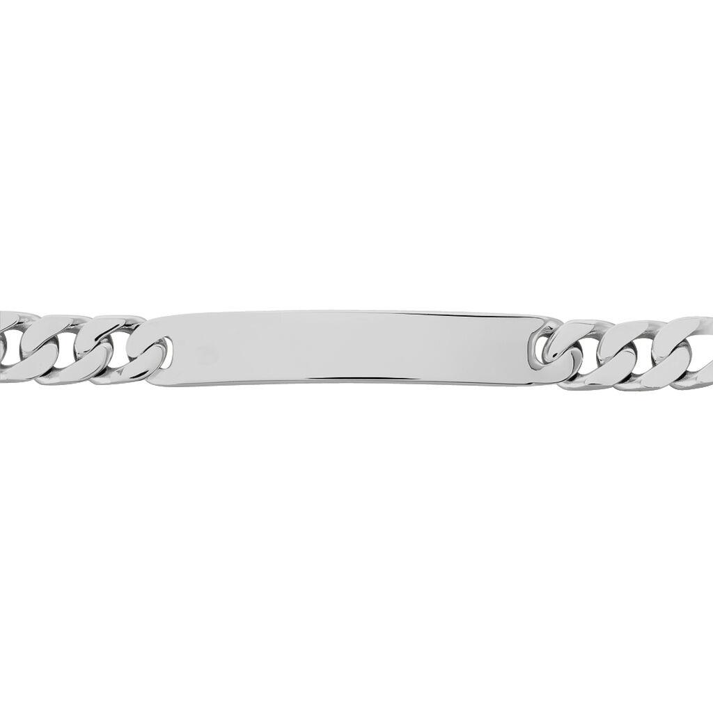 Bracelet Identité Casper Maille Gourmette Argent Blanc - Gourmettes Femme | Histoire d'Or