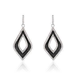 Boucles D'oreilles Pendantes Melissa Argent Blanc Oxyde De Zirconium - Boucles d'oreilles pendantes Femme   Histoire d'Or