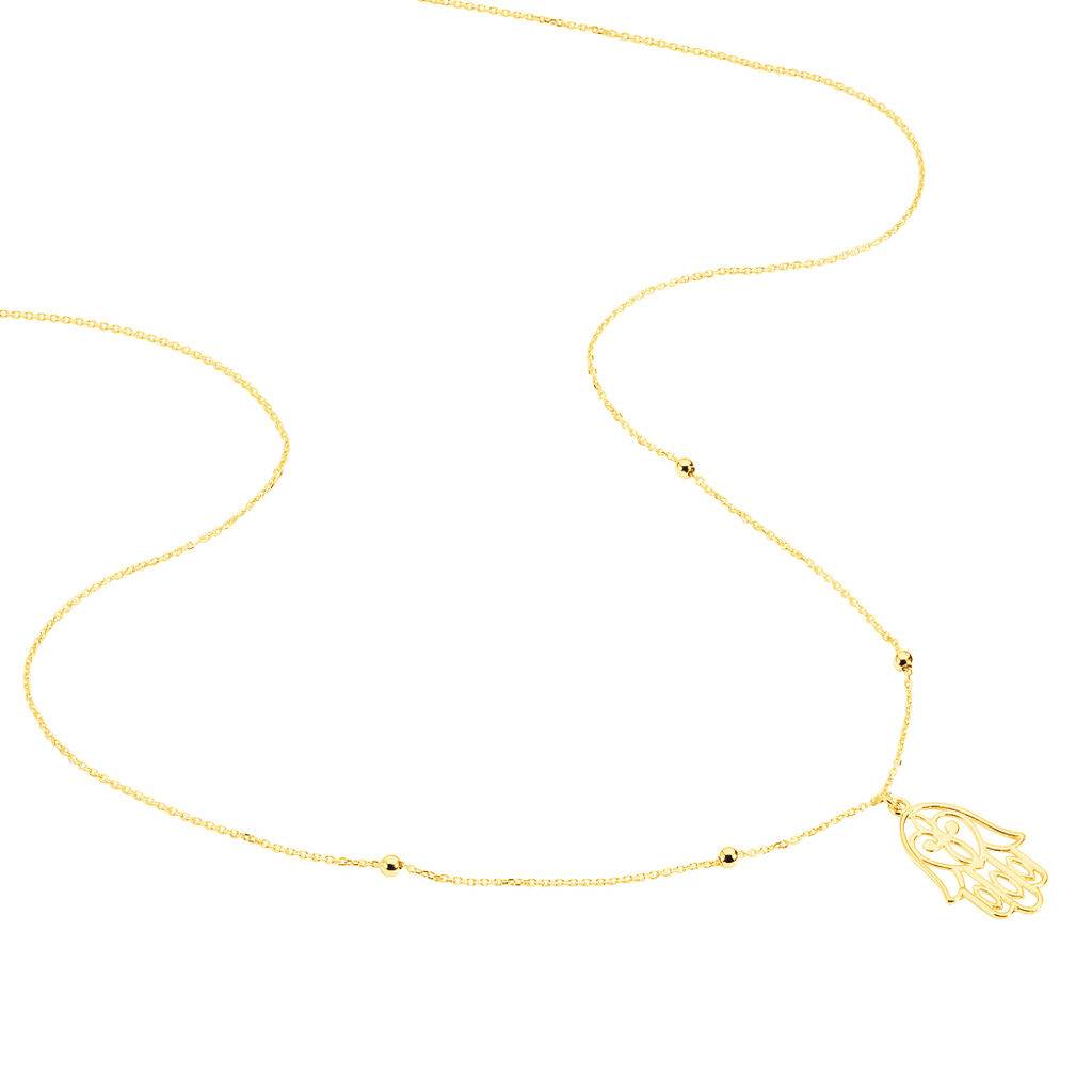 Collier Meryne Or Jaune - Colliers Main de Fatma Femme   Histoire d'Or