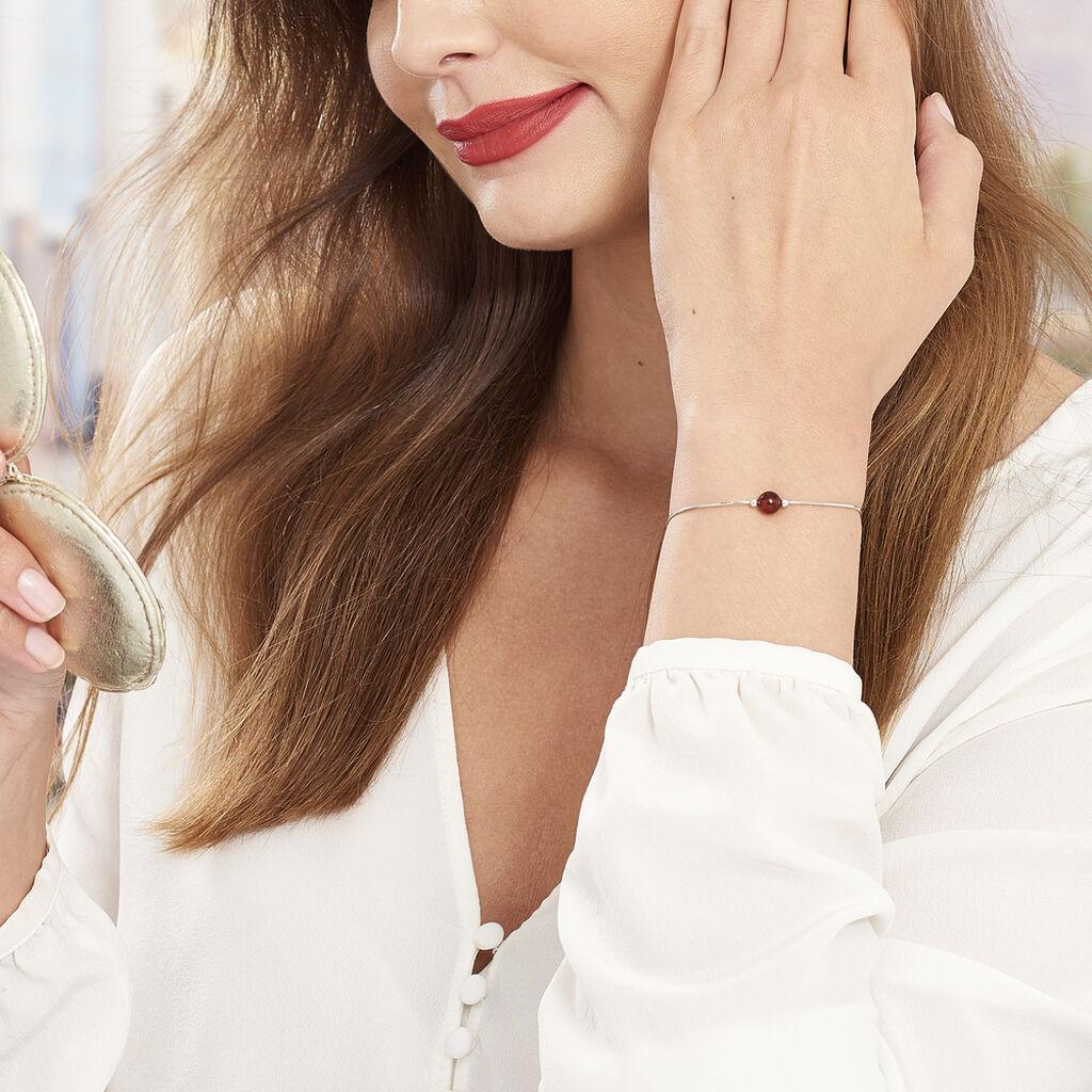 Bracelet Katoucha Argent Blanc Ambre - Bracelets fantaisie Femme | Histoire d'Or