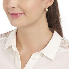 Créoles Tiziana Plaque Or Jaune Oxyde De Zirconium - Boucles d'oreilles créoles Femme | Histoire d'Or