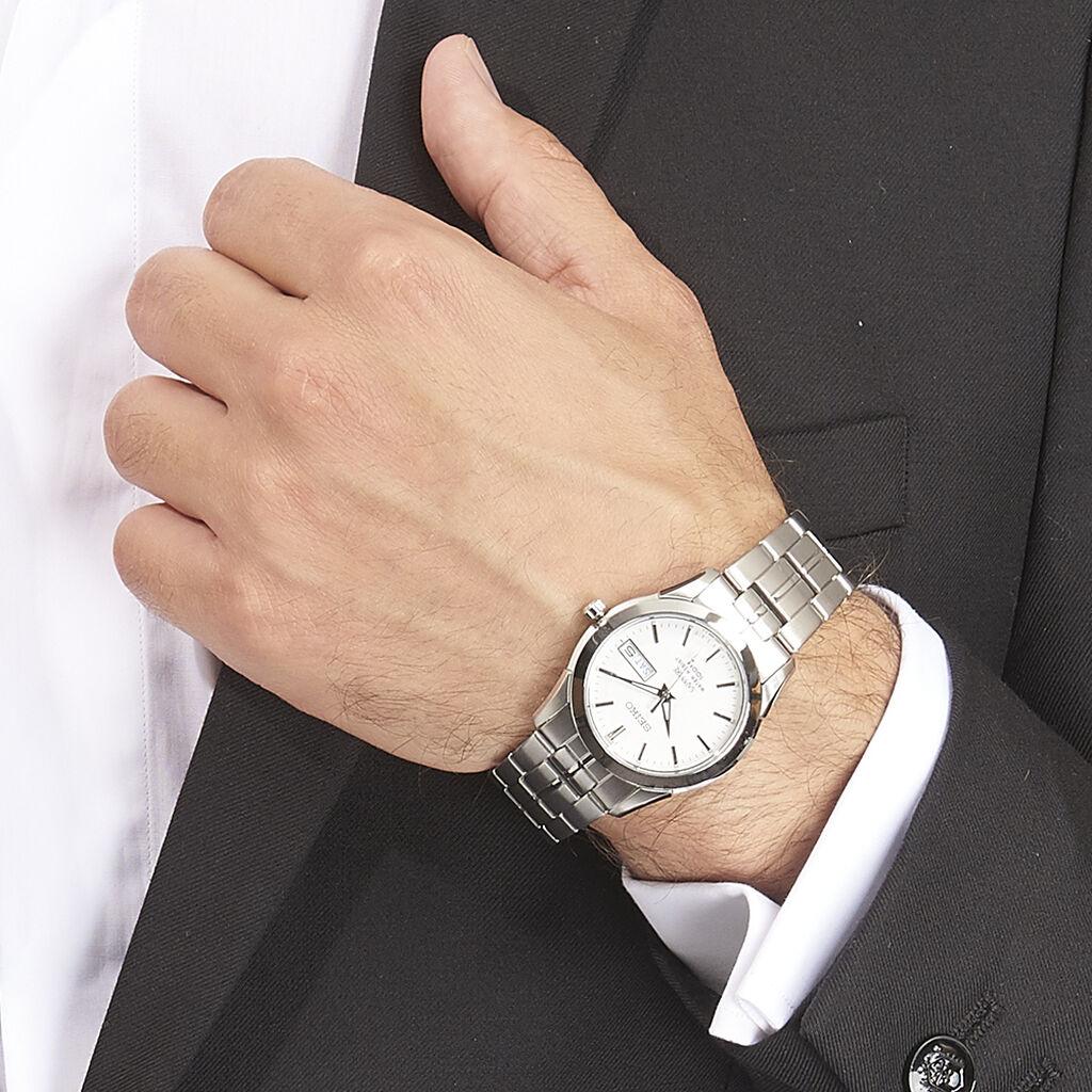 Montre Seiko Classique Blanc - Montres classiques Homme   Histoire d'Or