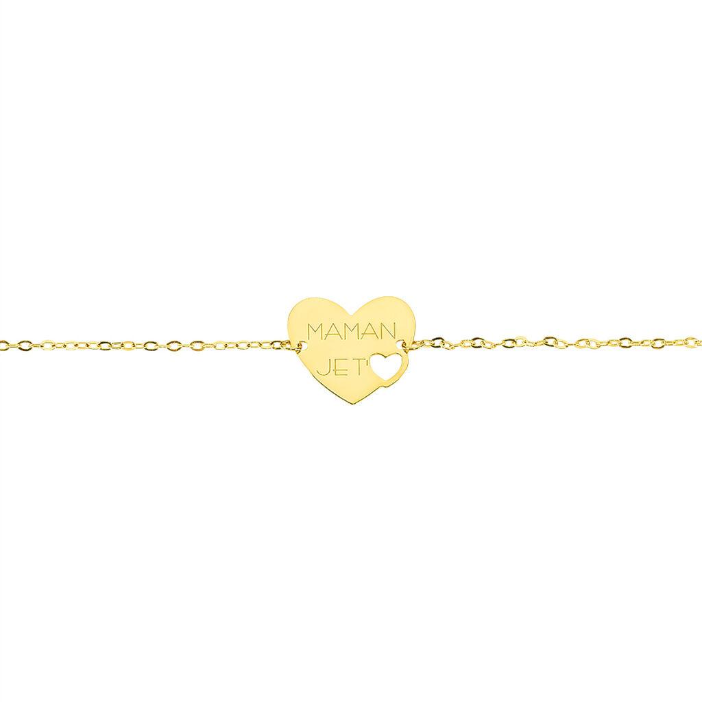 Bracelet Saundra Or Jaune - Bracelets Coeur Femme   Histoire d'Or
