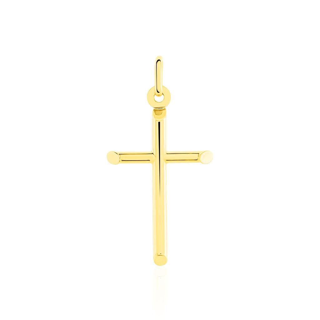Pendentif Corantin Croix Or Jaune - Pendentifs Croix Unisexe   Histoire d'Or