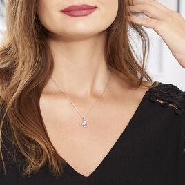 Collier Chat Argent Blanc Oxyde De Zirconium - Colliers fantaisie Femme | Histoire d'Or