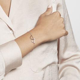 Bracelet Argent Bicolore Fethi - Bracelets Coeur Femme   Histoire d'Or
