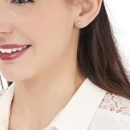 Boucles D'oreilles Puces Alphonsine Etoile Or Blanc - Boucles d'Oreilles Etoile Femme | Histoire d'Or