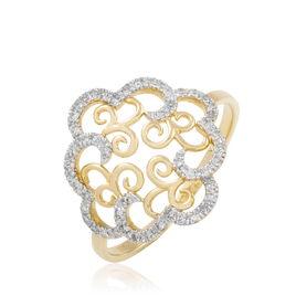Bague Marie-christel Or Jaune Diamant - Bagues avec pierre Femme | Histoire d'Or