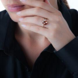 Bague Viriane Argent Blanc Ambre - Bagues solitaires Femme   Histoire d'Or