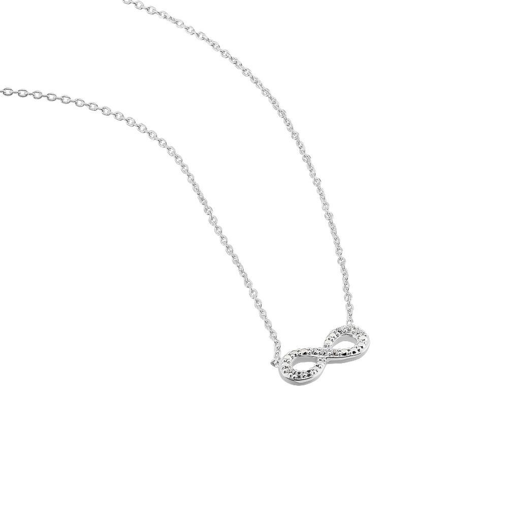 Collier Stanna Argent Blanc Oxyde De Zirconium - Colliers Infini Femme   Histoire d'Or