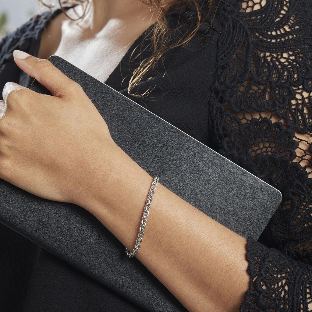 Bracelet Argent Rhodié Savanne - Bracelets chaîne Femme | Histoire d'Or