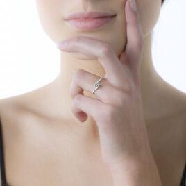 Bague Olly Or Blanc Oxyde De Zirconium - Bagues solitaires Femme   Histoire d'Or