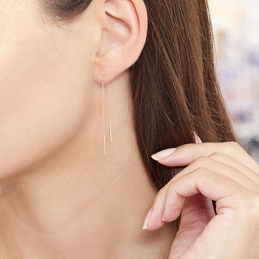 Boucles D'oreilles Pendantes Chloee Or Jaune - Boucles d'oreilles pendantes Femme | Histoire d'Or
