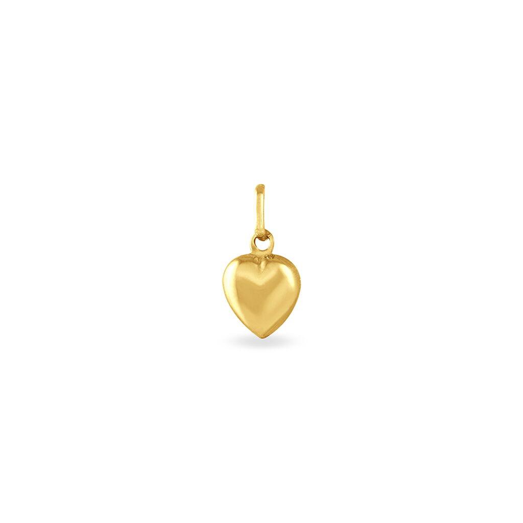Pendentif Eudocie Coeur Mat Et Brillant Or Jaune - Pendentifs Coeur Unisexe | Histoire d'Or