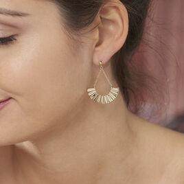 Boucles D'oreilles Pendantes Sereina Plaque Or Jaune - Boucles d'oreilles pendantes Femme   Histoire d'Or