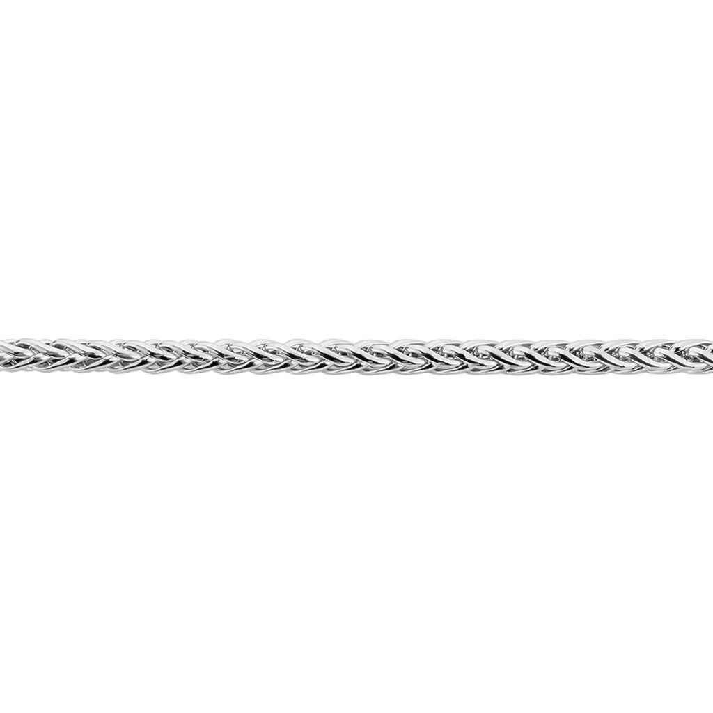 Bracelet Jayna Maille Palmier Or Blanc - Bracelets chaîne Femme   Histoire d'Or
