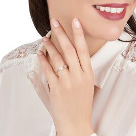 Bague Shannone Or Jaune Perle De Culture Et Oxyde De Zirconium - Bagues avec pierre Femme   Histoire d'Or