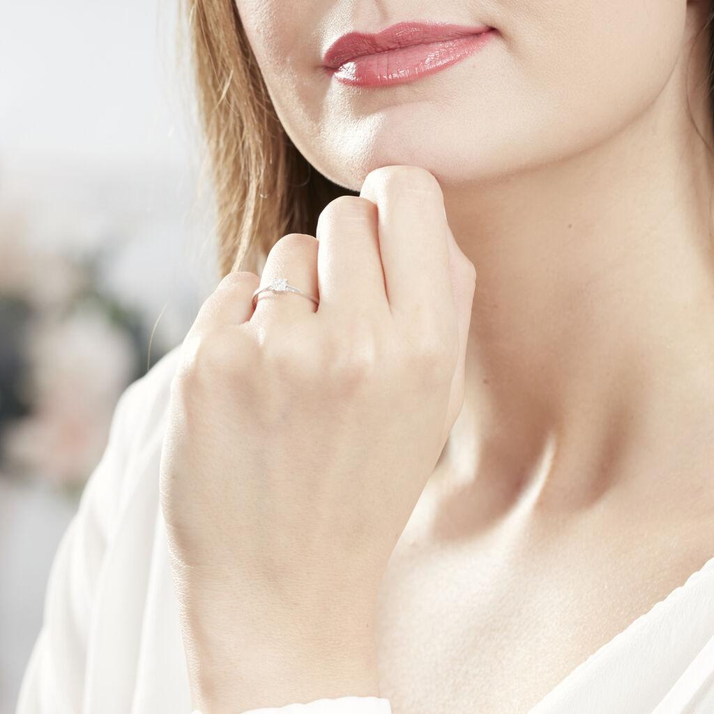 Bague Sandrine Or Blanc Diamant - Bagues avec pierre Femme   Histoire d'Or