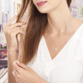Collier Indian Drop Argent Blanc Oxyde De Zirconium - Colliers fantaisie Femme | Histoire d'Or