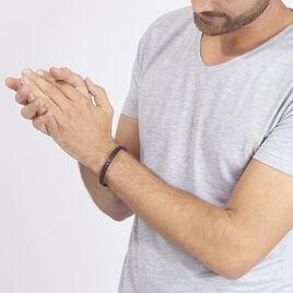 Bracelet Yannis Acier Blanc - Bracelets fantaisie Homme   Histoire d'Or