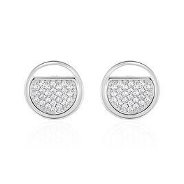 Boucles D'oreilles Puces Laetizia Clara Argent Oxyde De Zirconium - Boucles d'oreilles fantaisie Femme | Histoire d'Or