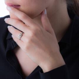 Bague Argent Blanc Oxyde De Zirconium - Bagues Coeur Femme | Histoire d'Or