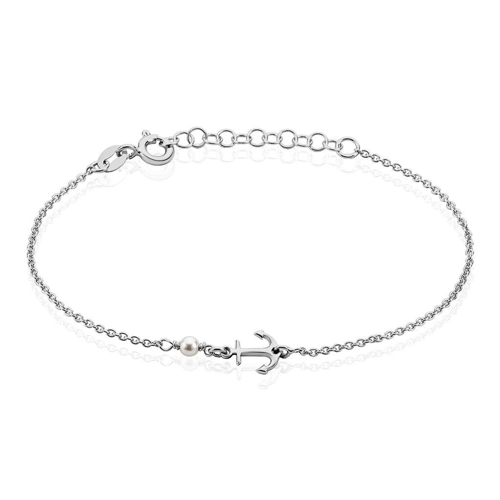 Bracelet Gwenaelle Argent Blanc Perle D'imitation - Bijoux Ancre Femme | Histoire d'Or