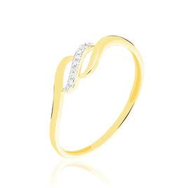 Bague Tylane Or Jaune Diamant - Bagues avec pierre Femme | Histoire d'Or