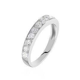 Alliance Valentine Or Blanc Diamant Synthetique - Alliances Femme | Histoire d'Or