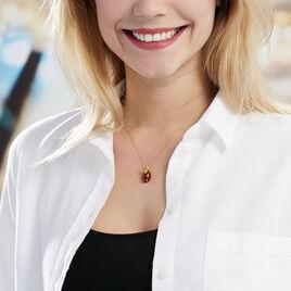 Collier Lyla Argent Jaune Ambre - Colliers fantaisie Femme | Histoire d'Or