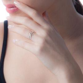 Bague Emma-lise Or Blanc Diamant - Bagues avec pierre Femme | Histoire d'Or