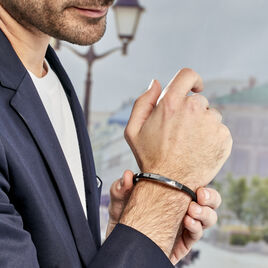 Bracelet Jourdan Tortin Acier - Bijoux Homme | Histoire d'Or