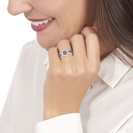 Bague Linaelle Or Blanc Saphir Et Diamant - Bagues avec pierre Femme   Histoire d'Or